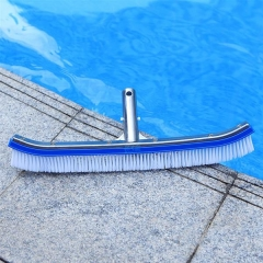 18''/45cm Deluxe Wall Brush w/polished Alu Back swimming pool cleaning accessories equipment