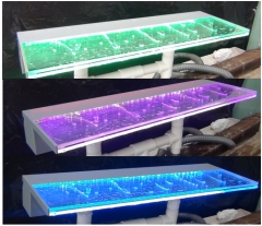 RGB LED light acrylic spillway water curtain pool fountain swimming fountain