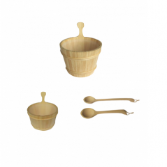 sauna accessories, wooden drum and spoon,sand filt...