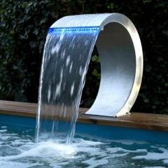 Swimming Pool Fountain Water Fall Stainless Steel ...